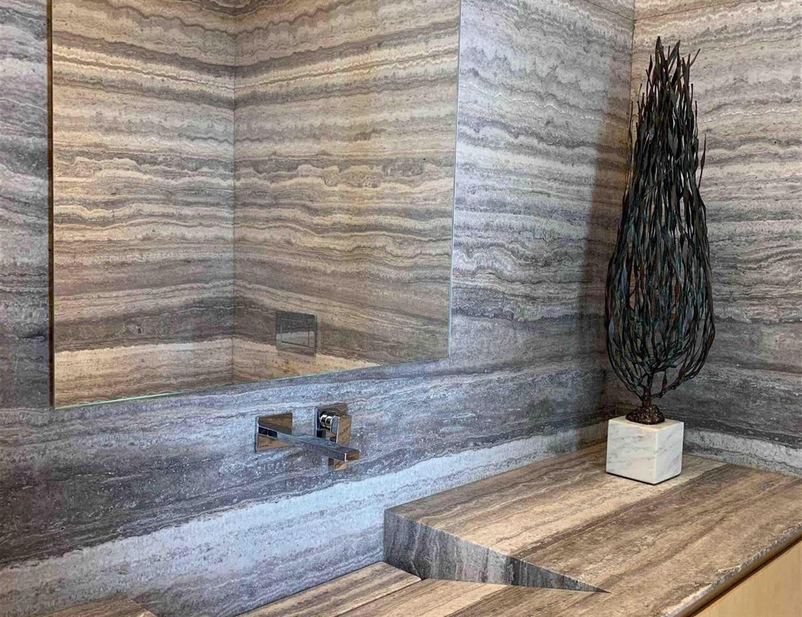 Titanium Travertine Polished Slab